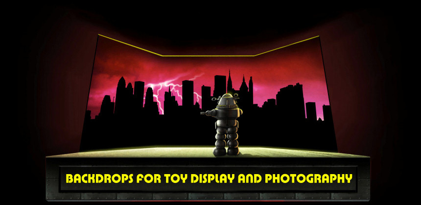 Backdrops for toys!
